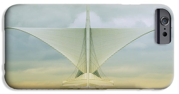 Chicago iPhone Cases - Milwaukee Art Center iPhone Case by Jack Zulli