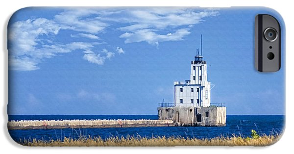 Chicago iPhone Cases - Milwaukee Breakwater iPhone Case by Joan Carroll