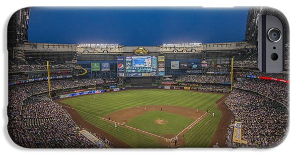 Recently Sold -  - Baseball Stadiums iPhone Cases - Milwaukee Brewers iPhone Case by David Haskett