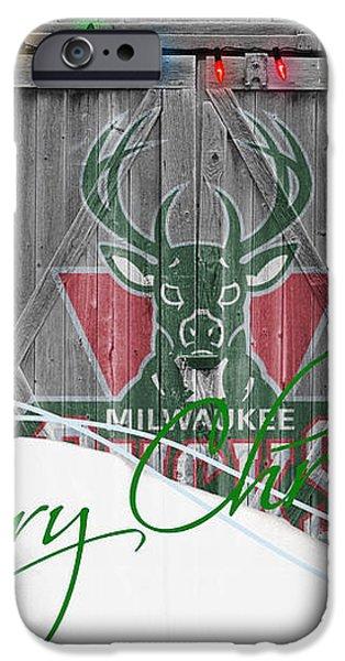 MILWAUKEE BUCKS iPhone Case by Joe Hamilton