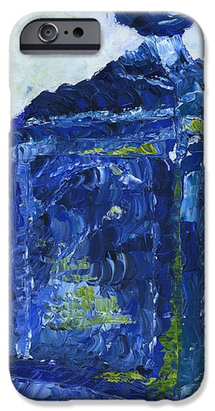 Pallet Knife Paintings iPhone Cases - Milwaukee Police Call Box iPhone Case by Lindsey Mathewson