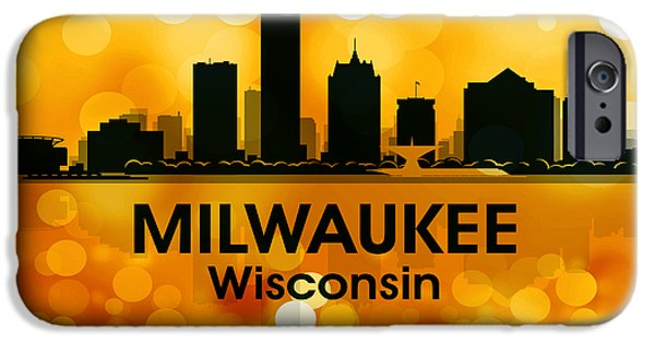 Concrete Jungle iPhone Cases - Milwaukee WI 3 iPhone Case by Angelina Vick