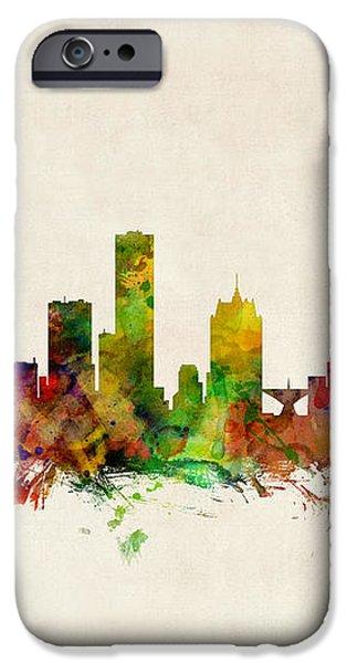 Milwaukee Wisconsin Skyline iPhone Case by Michael Tompsett