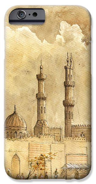 Storm iPhone Cases - Minaret of Al Azhar Mosque iPhone Case by Juan  Bosco