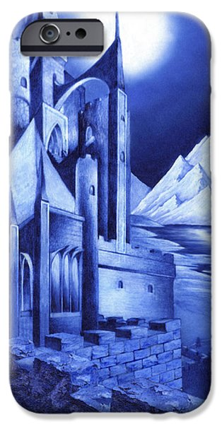 Curtiss iPhone Cases - Minas Tirith iPhone Case by Curtiss Shaffer