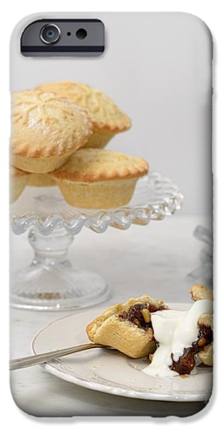 Christmas iPhone Cases - Mince Pies With Cream iPhone Case by Amanda And Christopher Elwell