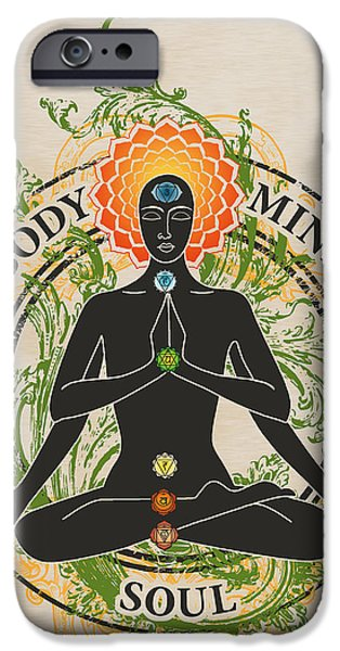 Recently Sold -  - Serpent iPhone Cases - Mind Body and Soul KUNDALINI iPhone Case by RSRLive Arts