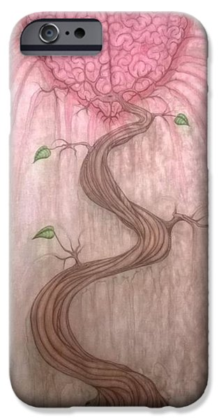 Relationship Tapestries - Textiles iPhone Cases - Mindful Heart iPhone Case by Justin Boysko