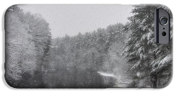New England Snow Scene iPhone Cases - Mine Falls Park - Nashua New Hampshire iPhone Case by Joann Vitali
