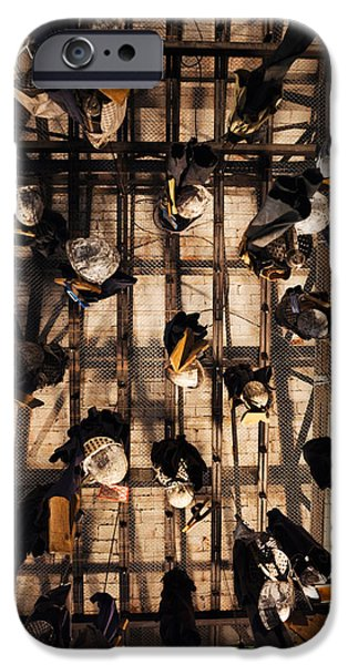 Rhone Alpes iPhone Cases - Miners Clothing Hanging Room, Salle Des iPhone Case by Panoramic Images