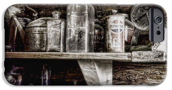 Old Digital Art iPhone Cases - Miners Kitchen iPhone Case by Ellen Heaverlo