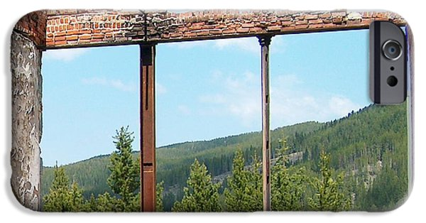 Cabin Window iPhone Cases - Miners Union Hall II iPhone Case by Mark Eisenbeil