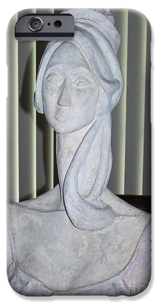 Culture Sculptures iPhone Cases - Minerva Culture Goddess iPhone Case by Shirl Solomon