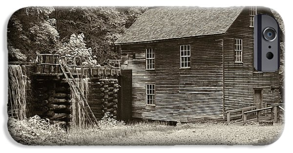 Grist Mill iPhone Cases - Mingus Mill Antiqued iPhone Case by Stephen Stookey