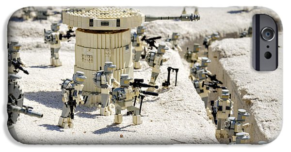 Stars Photographs iPhone Cases - Mini Hoth Battle iPhone Case by Ricky Barnard