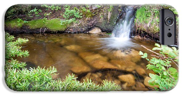 Creek iPhone Cases - Mini Waterfall iPhone Case by James Wheeler