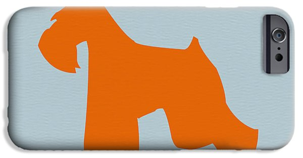 Pets Art iPhone Cases - Miniature Schnauzer Orange iPhone Case by Naxart Studio