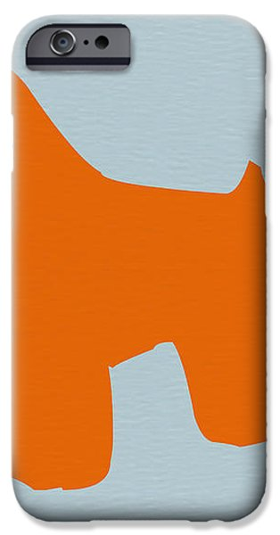 Miniature Schnauzer Orange iPhone Case by Naxart Studio