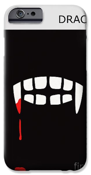 Minimalist Book Cover Bram Stoker Dracula iPhone Case by Budi Kwan
