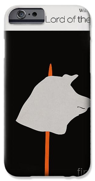 Book Cover Art iPhone Cases - Minimalist book cover lord of the flies iPhone Case by Budi Satria Kwan