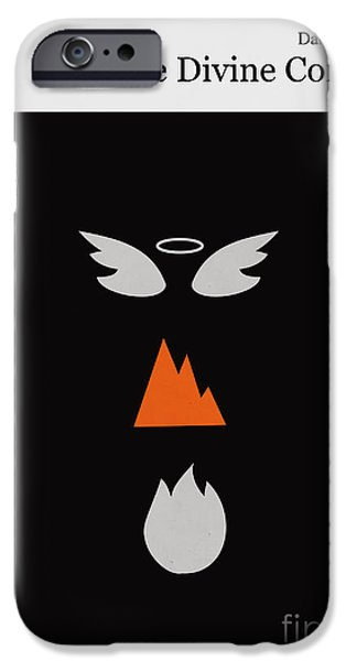 Divine iPhone Cases - Minimalist book cover the divine comedy iPhone Case by Budi Satria Kwan