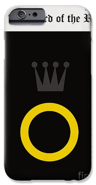 Book Cover Art iPhone Cases - Minimalist book cover the lord of the ring iPhone Case by Budi Satria Kwan