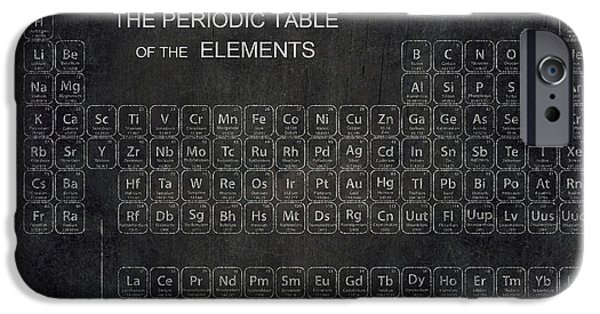 Board Digital Art iPhone Cases - Minimalist Periodic Table iPhone Case by Daniel Hagerman