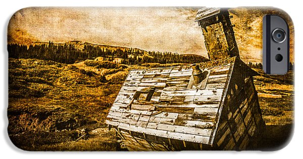 Old School House iPhone Cases - Quartz Mountain 2 iPhone Case by YoPedro