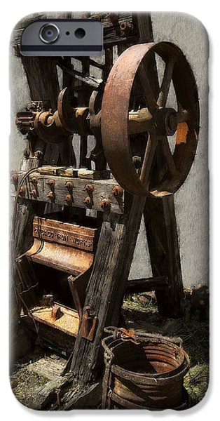 MINING PORTABLE STAMP MILL iPhone Case by Daniel Hagerman