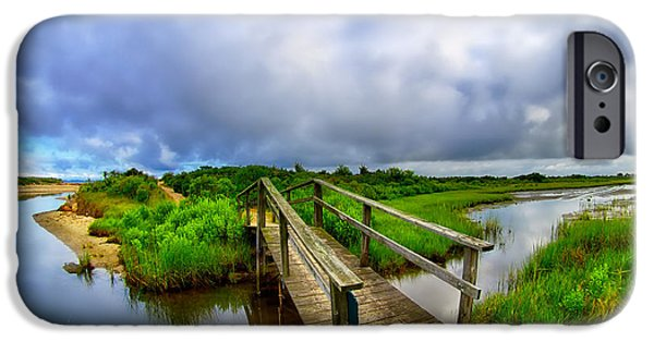 Bay Head Beach iPhone Cases - Mink Meadow Bridge iPhone Case by Mark Miller