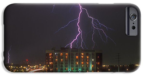 Electrical Digital Art iPhone Cases - Minnesota Electrical Storm iPhone Case by Mike McGlothlen