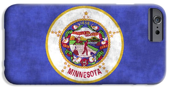 Minnesota Digital iPhone Cases - Minnesota Flag iPhone Case by World Art Prints And Designs