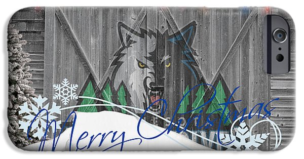 Basket iPhone Cases - Minnesota Timberwolves iPhone Case by Joe Hamilton