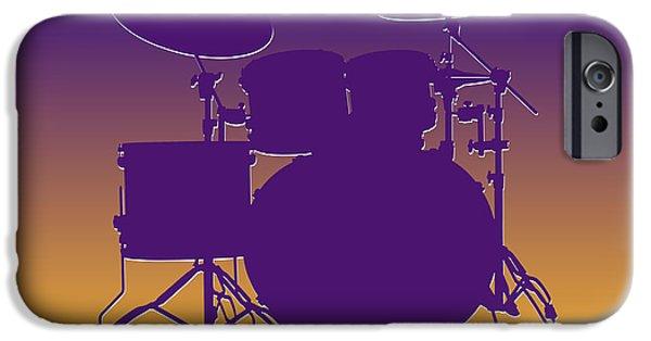 Minnesota iPhone Cases - Minnesota Vikings Drum Set iPhone Case by Joe Hamilton
