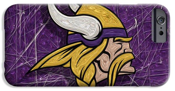 Minnesota Digital iPhone Cases - Minnesota Vikings iPhone Case by Jack Zulli