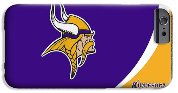 Minnesota iPhone Cases - Minnesota Vikings iPhone Case by Joe Hamilton