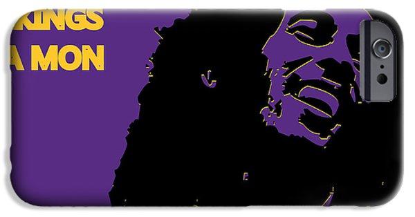 Minnesota iPhone Cases - Minnesota Vikings Ya Mon iPhone Case by Joe Hamilton