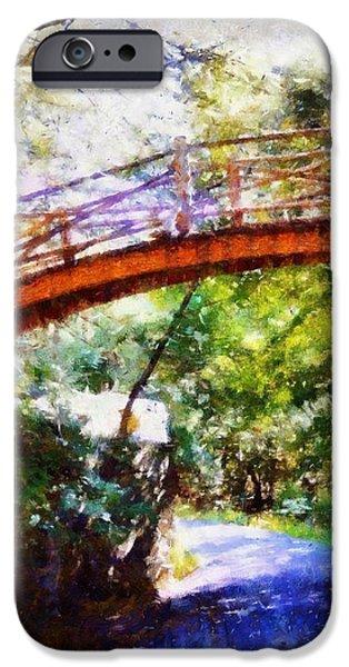 Minnewaska Wooden Bridge iPhone Case by Janine Riley