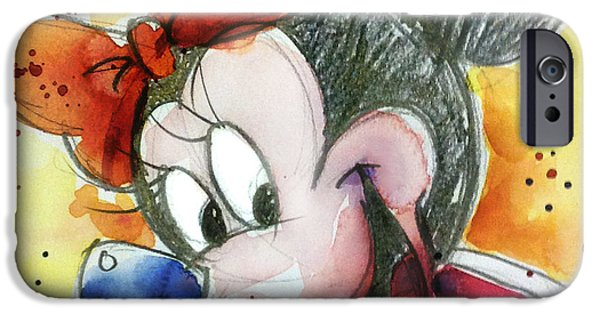Mouse iPhone Cases - Minnie Mouse iPhone Case by Andrew Fling