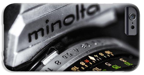 """indoor"" Still Life Digital Art iPhone Cases - Minolta XG7 iPhone Case by Jerry Fornarotto"