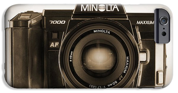 35mm iPhone Cases - Minolta Maxxum iPhone Case by Mike McGlothlen