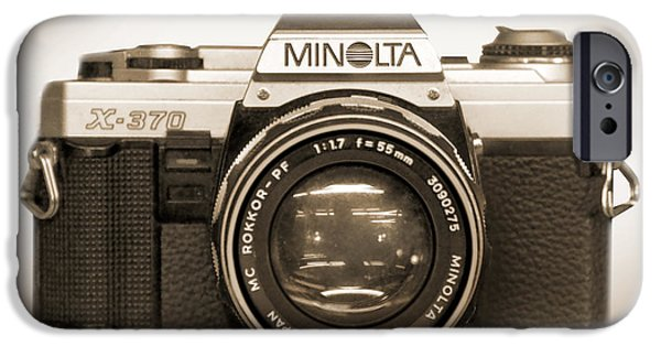 35mm iPhone Cases - Minolta X-370 iPhone Case by Mike McGlothlen
