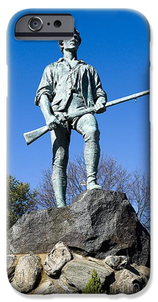 American Revolution iPhone Cases - Minute Man iPhone Case by John Greim