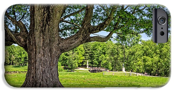 Concord Photographs iPhone Cases - Minute Man National Historical Park  iPhone Case by Edward Fielding