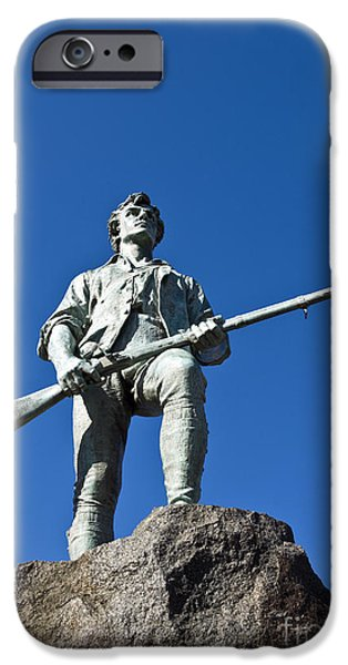American Revolution iPhone Cases - Minute Man Sculpture iPhone Case by John Greim