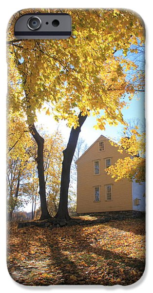 Concord Photographs iPhone Cases - Minuteman National Historic Park Brooks House iPhone Case by John Burk