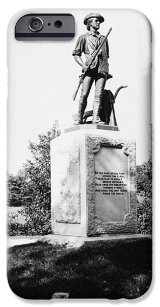 Concord Massachusetts iPhone Cases - Minuteman Statue iPhone Case by Granger
