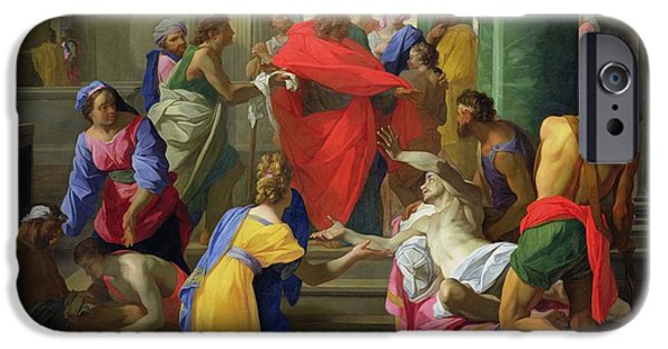Miracle Photographs iPhone Cases - Miracles Of St. Paul At Ephesus, 1693 Oil On Canvas iPhone Case by Jean Restout