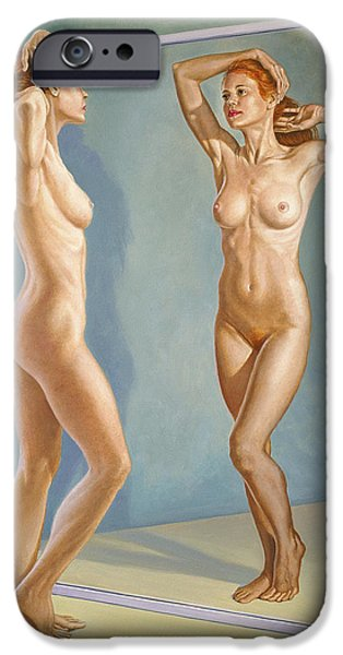 Figures iPhone Cases - Mirror Image iPhone Case by Paul Krapf