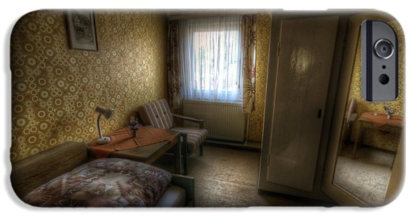 Haunted House Digital Art iPhone Cases - Mirror room iPhone Case by Nathan Wright